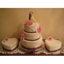 Свадебный торт Трио: заказать, доставка