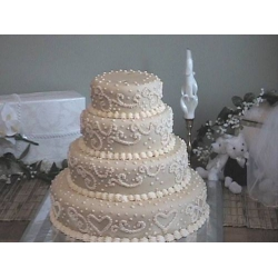 Свадебный торт Элегантный дождь: заказать, доставка