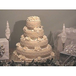Свадебный торт Золотые розы: заказать, доставка