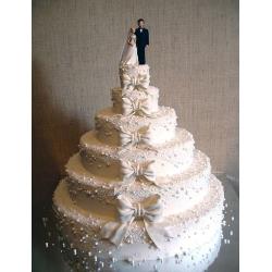 Свадебный торт Белый бант: заказать, доставка