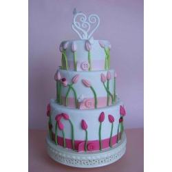 Свадебный торт Розовые тюльпаны: заказать, доставка