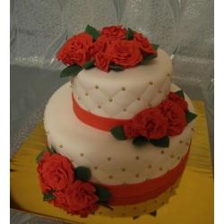 Свадебный торт Красные розы: заказать, доставка