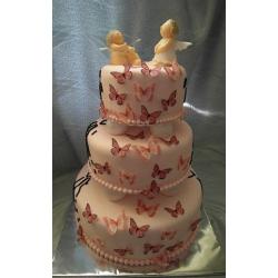 Свадебный торт Бабочки и Ангелы: заказать, доставка