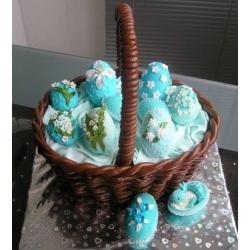 Торт на заказ Пасхальная корзина