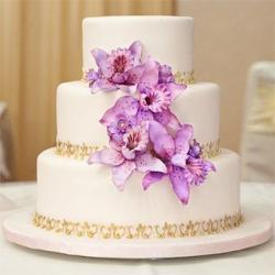 Свадебный торт Королевский фиолет: заказать, доставка