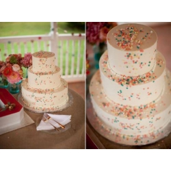 Свадебный торт Конфетти: заказать, доставка