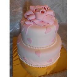 Свадебный торт Свадебное сердце розовое: заказать, доставка