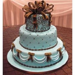 Свадебный торт Шоколадный голубой: заказать, доставка