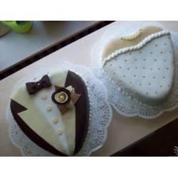 Свадебный торт жених и невеста флора