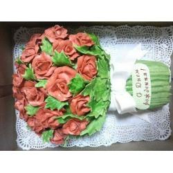Торт для девушки Улыбнись розам