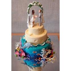 Свадебный торт Подводный мир: заказать, доставка