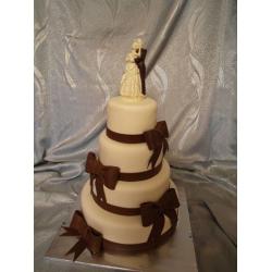 Свадебный торт Шоколадные банты: заказать, доставка