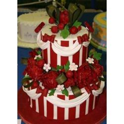 Свадебный торт Красный пион: заказать, доставка