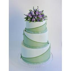 Свадебный торт Фиолетовые тюльпаны: заказать, доставка