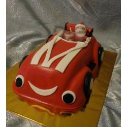 Детский торт Крутой Санта