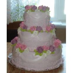Свадебный торт Фиалковая роза: заказать, доставка