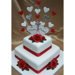 Свадебный торт Любимый красный: заказать, доставка