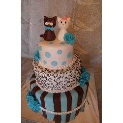 Свадебный торт Египетские кошки