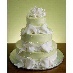 Свадебный торт Бант: заказать, доставка