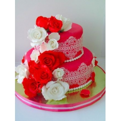 Свадебный торт Коралловое платье: заказать, доставка