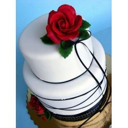 Свадебный торт Красная роза: заказать, доставка
