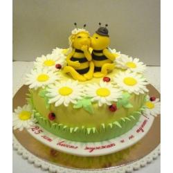 Торт на Серебряную свадьбу - Пчелки: заказать, доставка
