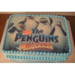Фото-торт Мадагаскар-Пингвины