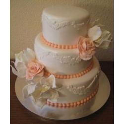 Свадебный торт Чайные розы и магнолии: заказать, доставка