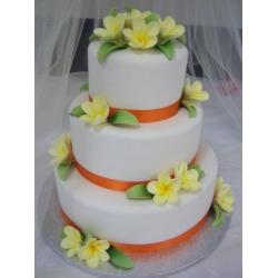 Свадебный торт Плюмерия (Тайланд)