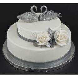 Торт на Серебряную свадьбу-25: заказать, доставка