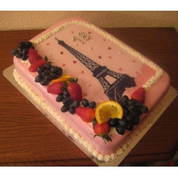Торт на заказ Любовь в Париже