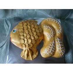 Детский торт Золотая рыбка