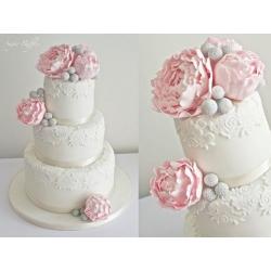 Свадебный торт Пионы Бруния: заказать, доставка