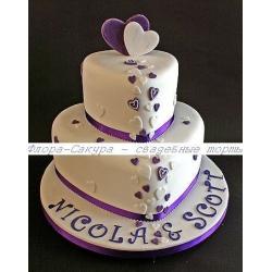 Свадебный торт Тайна двоих: заказать, доставка
