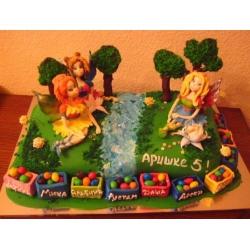 Детский торт Поляна фей