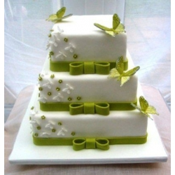 Свадебный торт Фисташковые бабочки: заказать, доставка