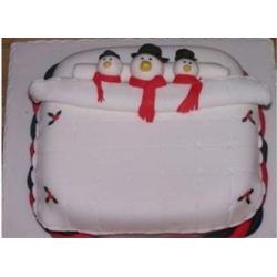 Торт Снеговики)