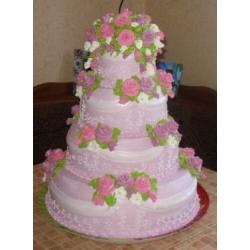 Свадебный торт Фиалковый Рассвет: заказать, доставка