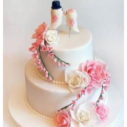Свадебный торт Фрезии и розы: заказать, доставка