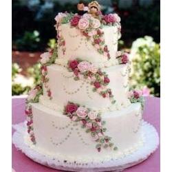 Свадебный торт Танго роз: заказать, доставка