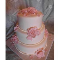 Свадебный торт Нежный розовый: заказать, доставка