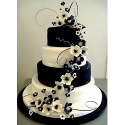 Свадебный торт Белое и черное