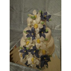 Свадебный торт Тандем орхидей: заказать, доставка