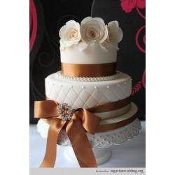 Свадебный торт Золотой павлин: заказать, доставка