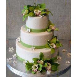 Свадебный торт Зеленая орхидея-2: заказать, доставка