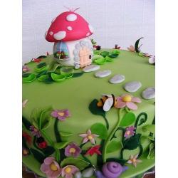 Детский торт Домик на полянке