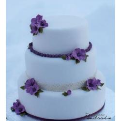 Свадебный торт Очарование фиалки: заказать, доставка