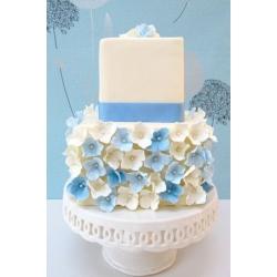 Свадебный торт Кремовое и голубое: заказать, доставка