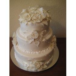 Свадебный торт Белый вальс: заказать, доставка