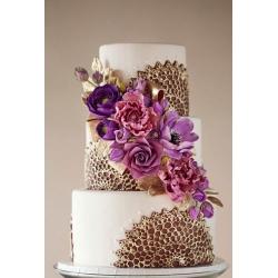Свадебный торт Золотой фиолетовый: заказать, доставка